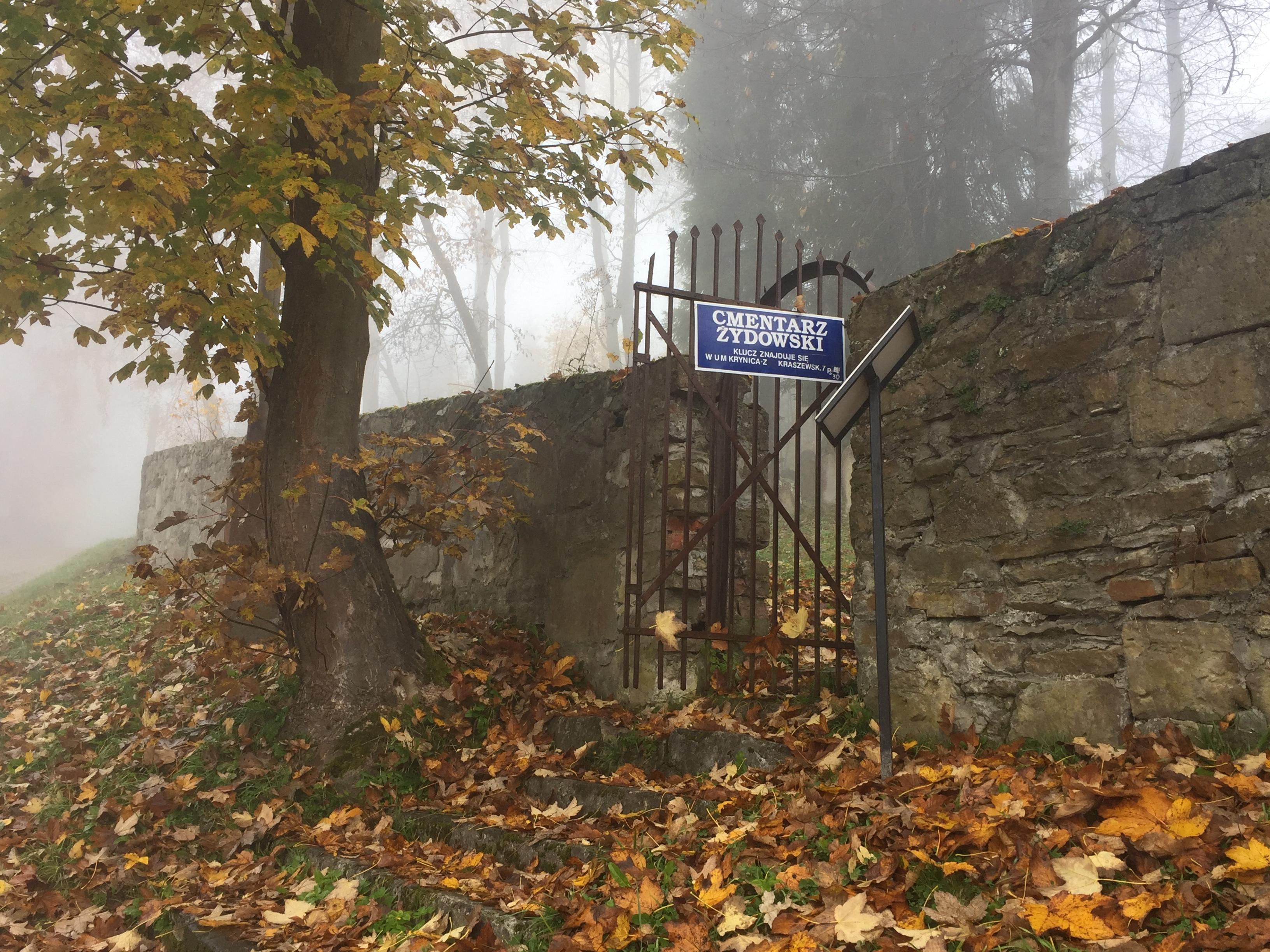 Wejście na Cmentarz Żydowski w Krynicy-Zdroju