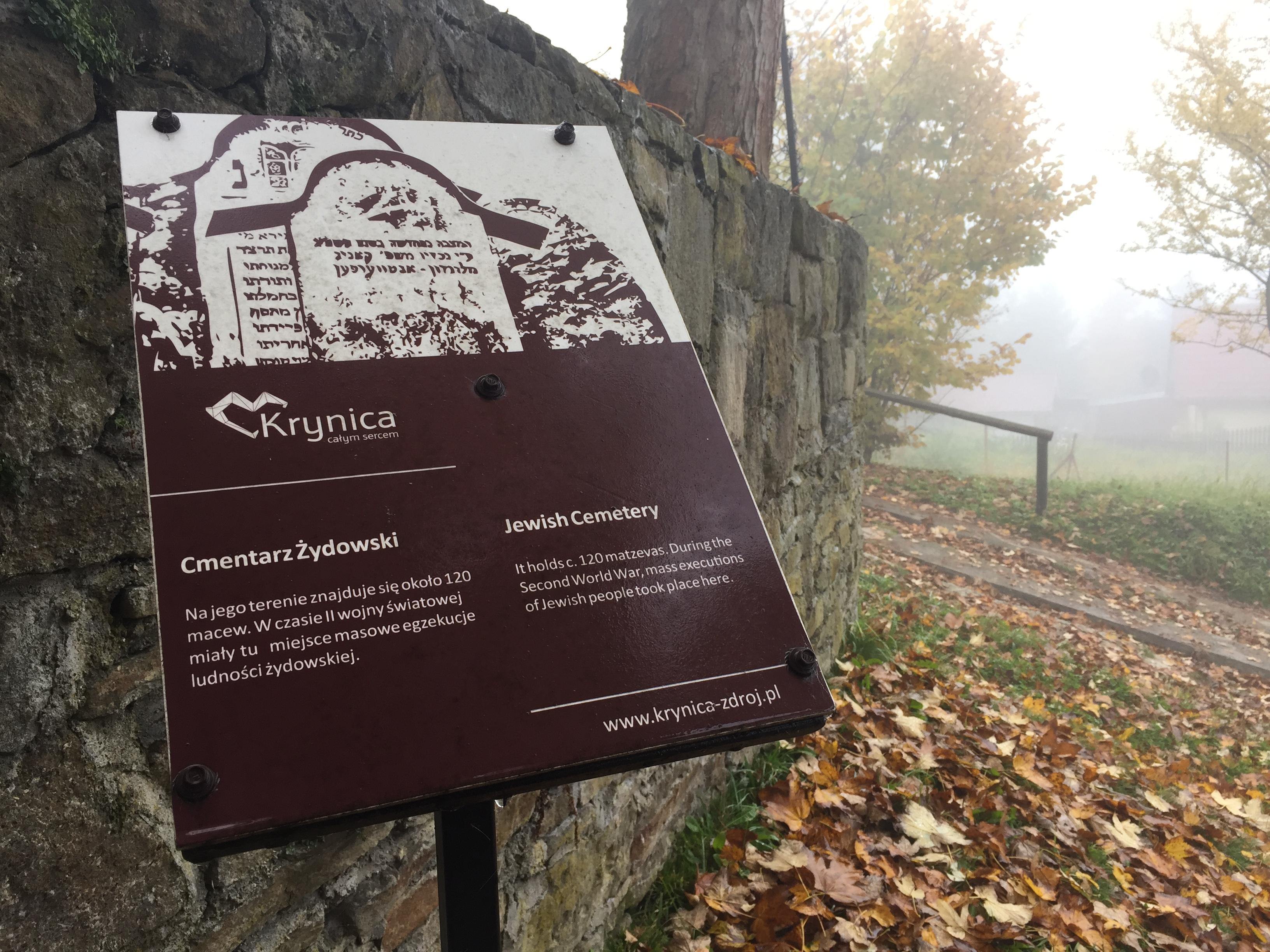 Przed Cmentarzem Żydowskim w Krynicy-Zdroju
